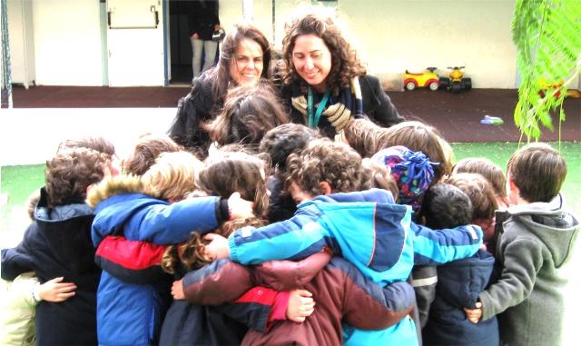 abraço colectivo